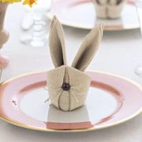 Орігамі із серветок: кролик