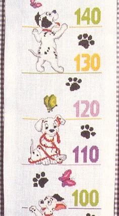 Схема для вишивання: діаграма росту із собачками