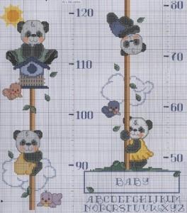 Схема для вишивання вимірювання зросту дитини