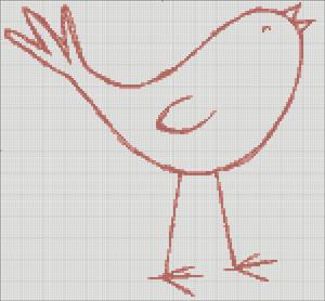 Схема для вишивки - Пташка