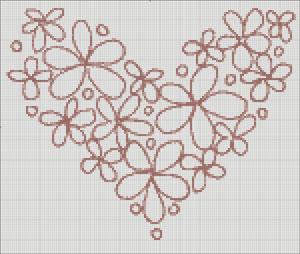 Схема для вишивки хрестиком - Серце
