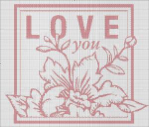 Схема для вишивки - love