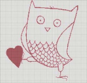 Схема для вишивки - Сова