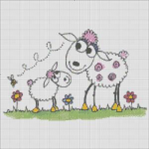 Схема для вишивки - Овечки