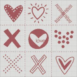 Схема для вишивки - XOXO