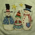 Схема для вишивки - сімейка сніговиків