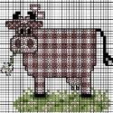 Схеми для вишивок - веселі корови