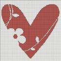 Схема для вишивки - серце