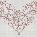 Схема для вишивки - квітуче серце