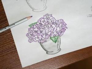 Як малювати акварельними олівцями