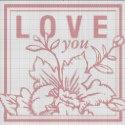 Схема для вишивки - Love you