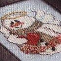Схема для вишивки - 12 сніговиків