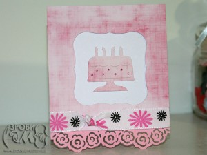 Листівка на День Народження в рожевих тонах