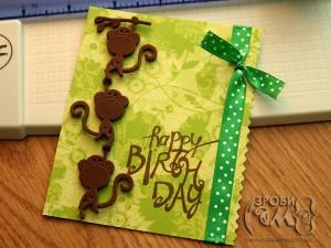 Monkey Birthday (листівка на День народження)