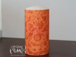 Створюємо осінній декор: як прикрасити свічку