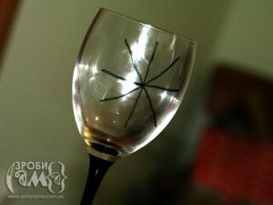 Власноруч декоровані бокали на Хеловін
