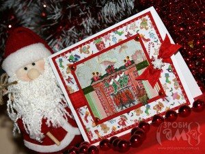 Новорічні листівки – варіант #5 Різдвяний камін