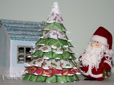 Як зробити новорічні ялинку з паперу