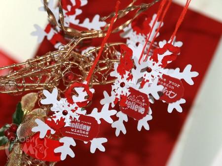 Новорічні ялинкові прикраси - паперові сніжинки