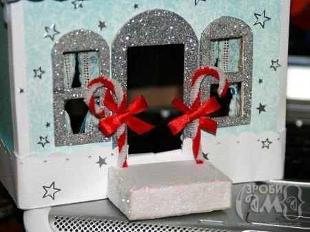 Як зробити новорічний будиночок з картону