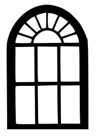 Трафарет вікна