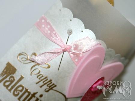 """""""Морозний"""" конверт для цукерок на День Валентина"""