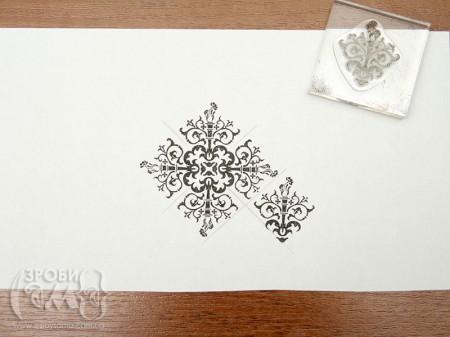 Як зробити фоновий папір за допомогою прозорого штампу