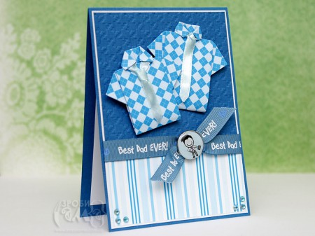 Листівки до Дня Батька - листівка із сорочкою