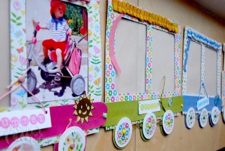 Рамка-поїзд у дитячу кімнату