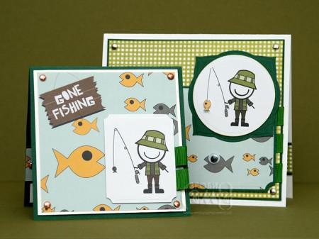 Проста листівка для рибака