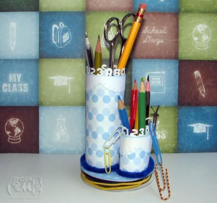 Шкільна підставка для олівців. Майстер клас