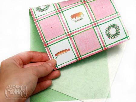 Майстер клас: новорічна листівка з паперу Deck The Halls (2)