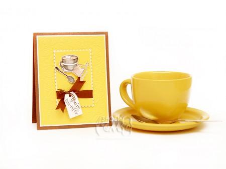 """Листівка """"Чай з лимоном"""""""