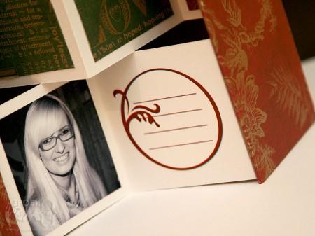 Новорічна рамка - міні-альбом Joyful Peace (+схема)