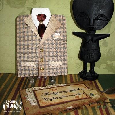 МК: Чоловіча листівка-піджак від Алли