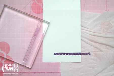 МК: Проста одношарова монохромна листівка до 8 Березня