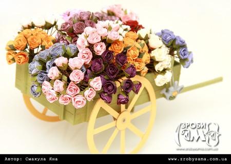 Як зробити візок з квітами у подарунок до Дня Матері