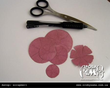 Майстер клас - робимо об'ємні квіти за допомгою ножиць та дироколу
