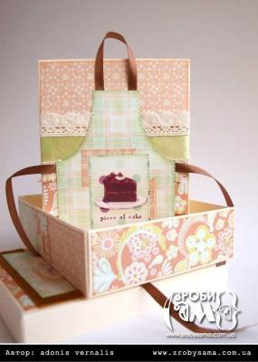 Коробочка для рецептів та листівка з фартушком