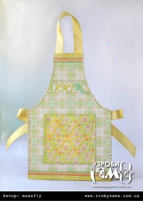 Кишенька для рецептів у формі фартушка