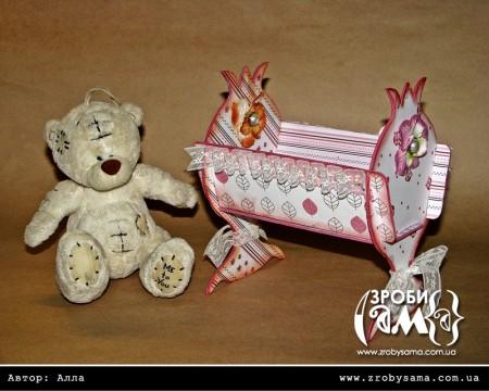 Майстер клас - іграшкове ліжечко для іграшкового будиночку