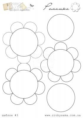 Завдання 3. Шаблон: квітка (ромашка)