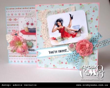 Солодкі листівки з капкейками