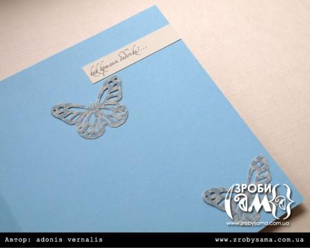 Листівки-близнюки з метеликами. День 2