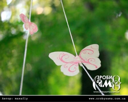 Гірлянда з метеликами. День 3
