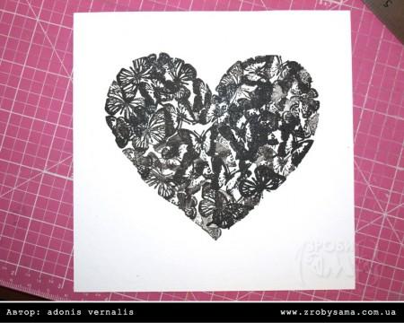 МК: стильна листівка з використанням саморобного трафарету