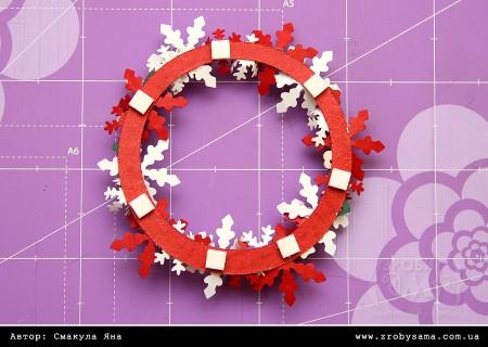 Новорічна листівка з мініатюрним віночком Merry & Bright (Back to Basics Christmas)