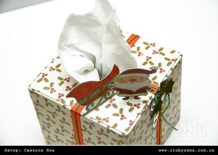 Прикрашаємо коробочку для серветок (Christmas Joy)