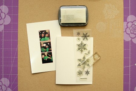Новорічні листівки для усієї родини. Варіант IV – листівки із закладкою