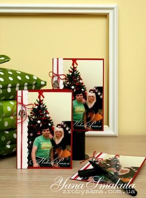 Новорічні листівки для усієї родини. Варіант I - листівки із фото